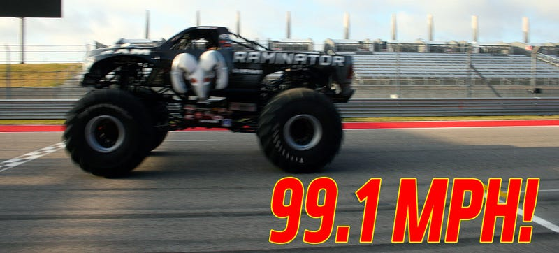 Illustration for article titled This 10,500-Pound Monster Truck Just Destroyed A Guinness Speed Record