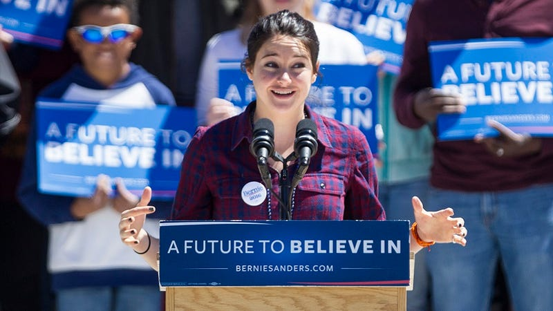 Illustration for article titled Shailene Woodley Is a Bernie Sanders Supporter, Are You Surprised Yet