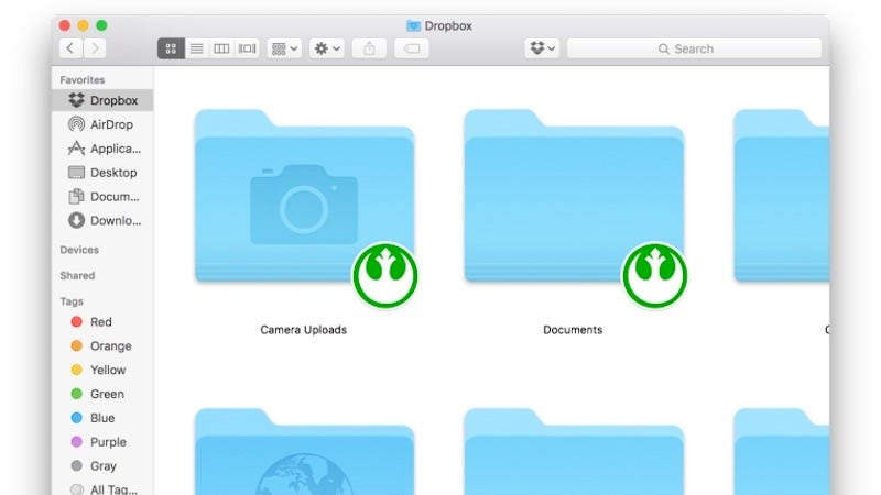 Illustration for article titled Change the Dropbox Syncing Icon to Anything You Want on OS X