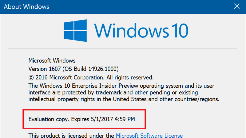 Illustration for article titled Older Windows Insider Builds Will Deactivate Soon Unless You Update