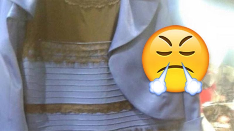 Illustration for article titled Blue and black dress enrages users of Internet