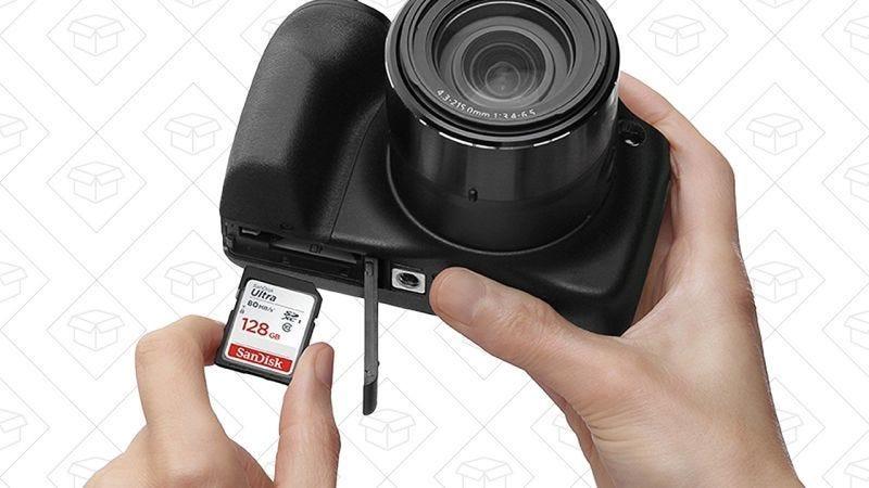 Tarjeta SD de SanDisk de 32BGB, $10