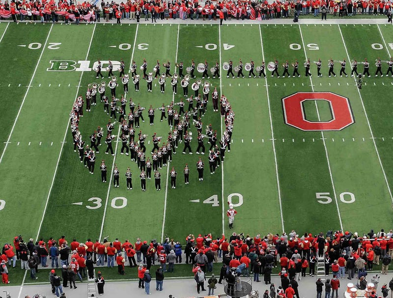 Illustration for article titled Ohio State Crowd Quiets Down As Marching Band Forms Pentagram