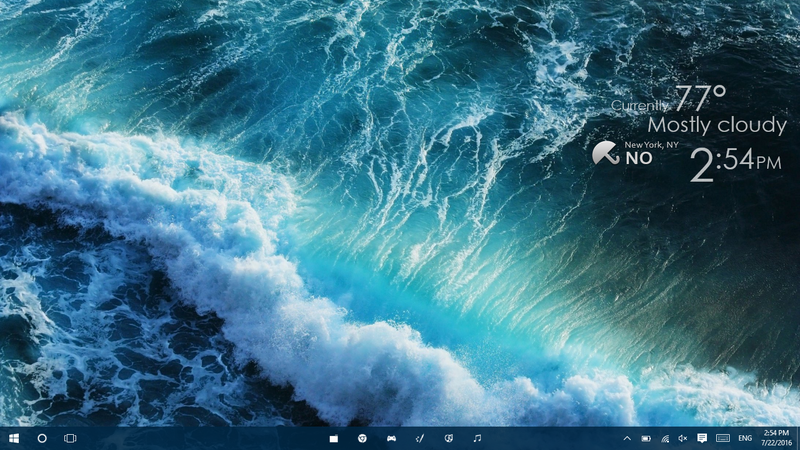The Crashing Waves Desktop