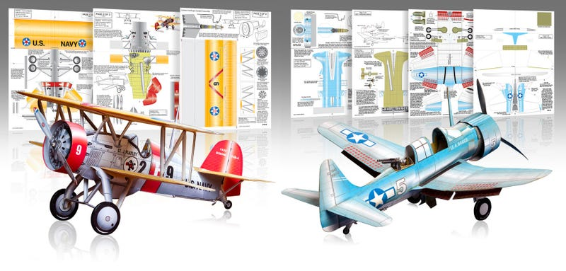 Illustration for article titled These Remarkably Detailed Paper Airplanes Actually Fly
