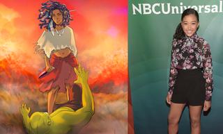 Comic book character Niobe Ayutami; Amandla StenbergTumblr; Jason Kempin/Getty Images