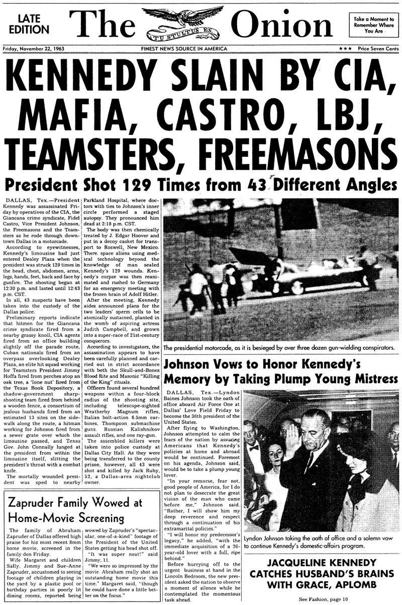 Illustration for article titled November 22, 1963
