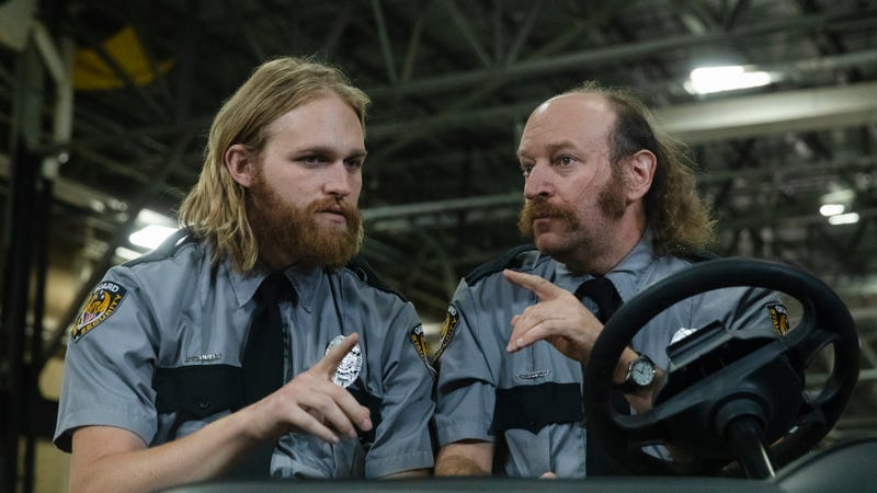 Wyatt Russell (L) and David Ury in Lodge 49
