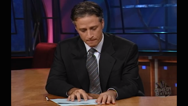 Illustration for article titled Jon Stewart's Post-9/11 Daily Show Was Tearful, Hopeful & Amazing