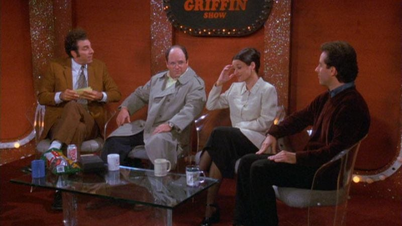 """Illustration for article titled Seinfeld: """"The Junk Mail""""/""""The Merv Griffin Show"""""""