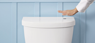 Illustration for article titled Kohler's New Kit Makes Your Toilet Hands-Free For $100