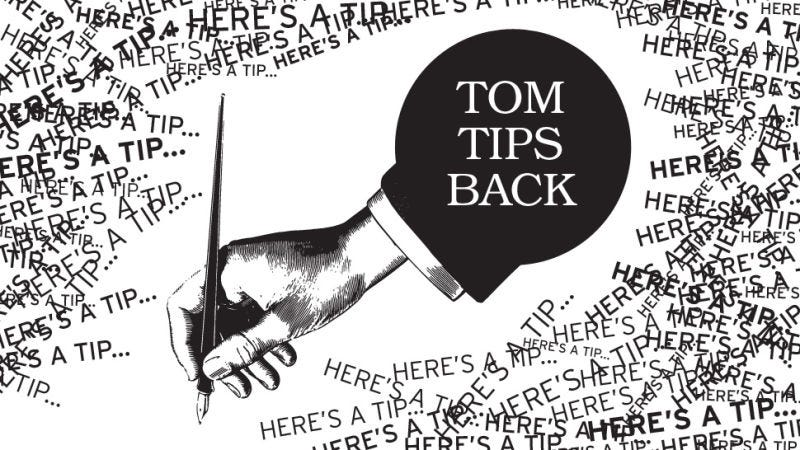 "Illustration for article titled ""I Am Unfamiliar With BOFA"": Tom Tips Back"