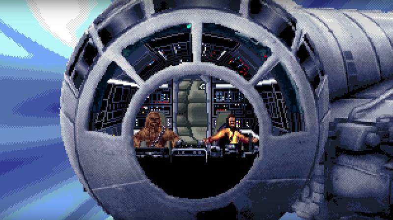 Illustration for article titled The Rise Of Skywalker trailer gets a 16-bit makeover