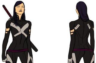 Illustration for article titled Olivia Munn's Awesome Psylocke Moves