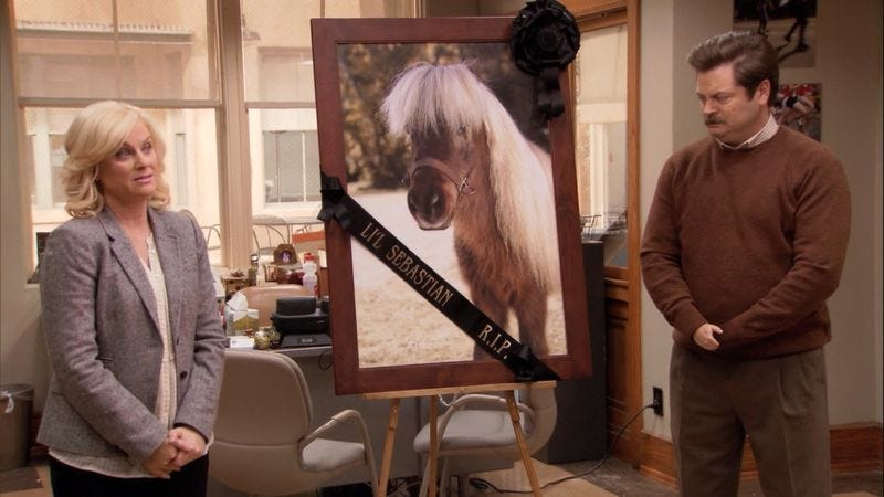 Li'l Sebastian was Parks And Recreation's biggest hero.