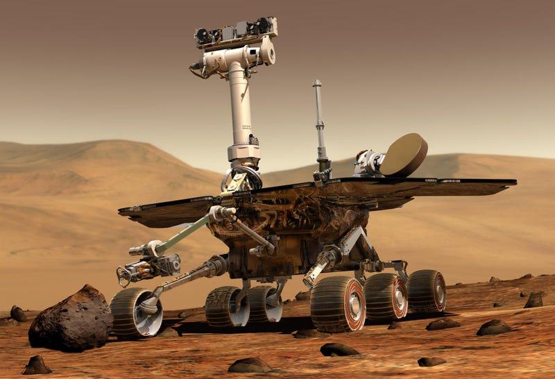 Ilustración del Opportunity en Marte.