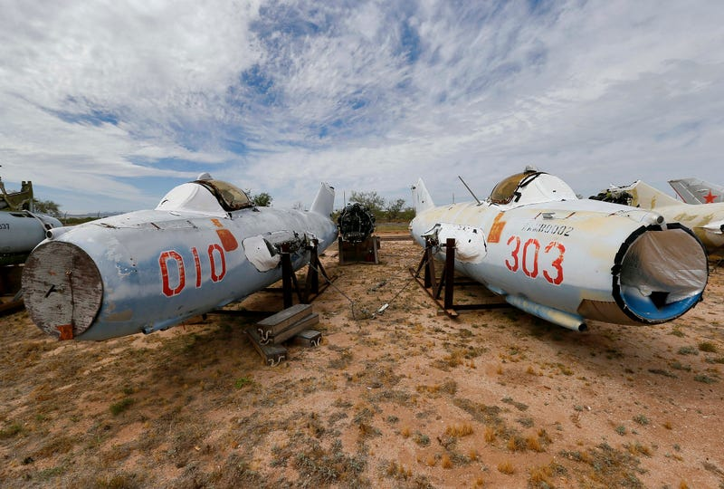 Illustration for article titled The Eerie Boneyard Where Military Planes Go to Die