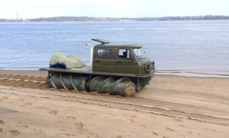Oh me? Don't mind me. Just up to my usual over here, taking a drive on the beach. What? No. Of cours