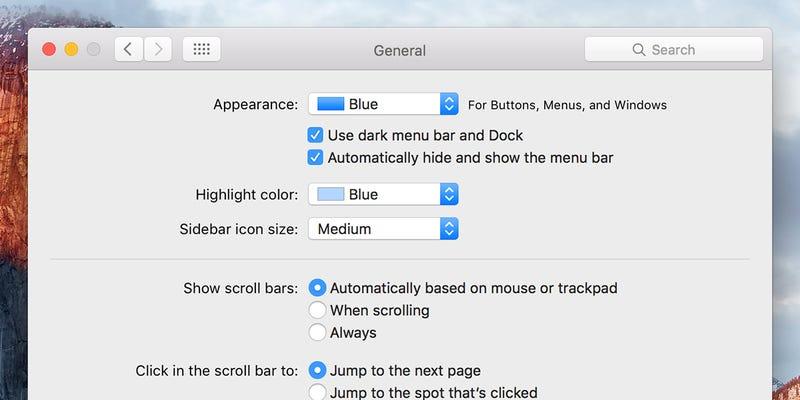 Hide the Menu Bar in OS X El Capitan for a True Full-Screen Experience