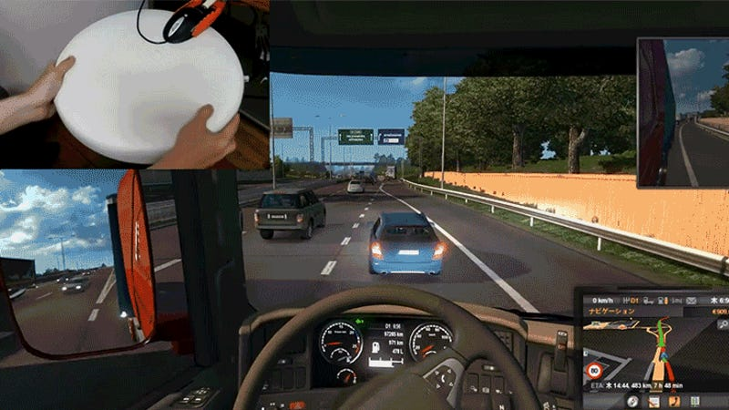 Crafty Hack Turns a Mouse, Salad Tongs, and a Bar Stool Into a Video Game Steering Wheel