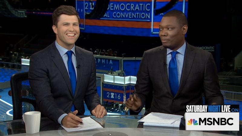 Colin Jost, Michael Che (Image: MSNBC)