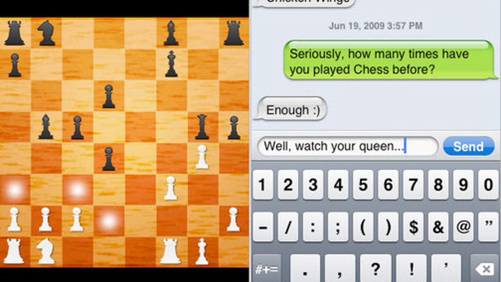 Multiplayer Chess iPhone App Is Very Cool, But Probably Won't Be a