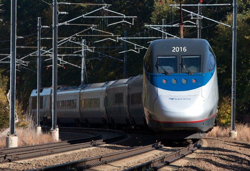 A file photo of a Northeast Regional Acela train. Photo credit AP