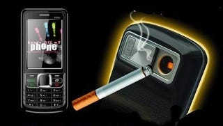 Illustration for article titled Cigarette Lighter Cellphone Gives You An Excuse To Continue Smoking