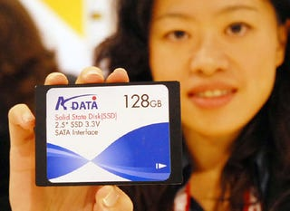 Illustration for article titled A-Data's 128GB Solid State Drive Sees the Light of Day