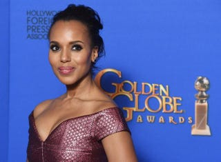 Actress Kerry Washington poses in the press room at the 72nd Annual Golden Globe Awards Jan. 11, 2015, at the Beverly Hilton Hotel in Beverly Hills, Calif.FREDERIC J. BROWN/AFP/Getty Images)