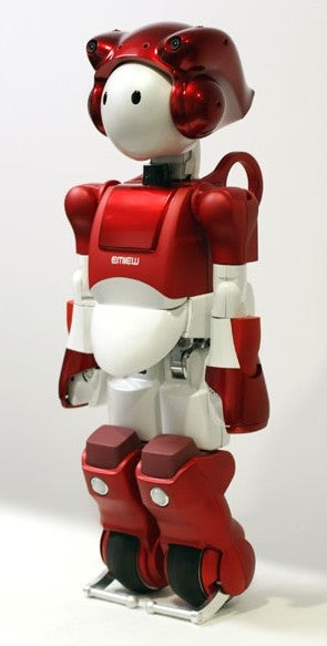 Illustration for article titled Launch of Hitachi's EMIEW 2 Robot Goes a Bit Awry