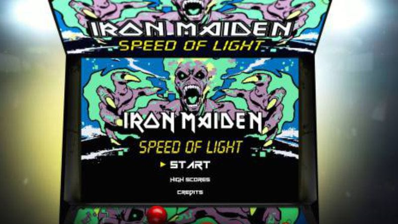 Illustration for article titled Now you're playing with power(slave) with the Iron Maiden 8-bit game