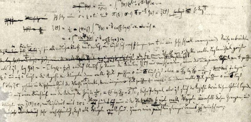 Hipótesis de Riemann (1859) / Biblioteca Estatal y Universitaria de Gotinga