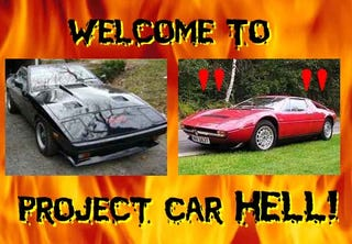 Illustration for article titled Project Car Hell: TVR 280i or Maserati Merak?