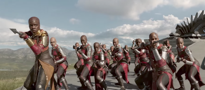 Scene from Black Panther set in the fictional Wakanda