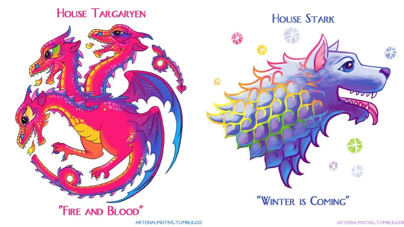Illustration for article titled If Lisa Frank Met Game of Thrones