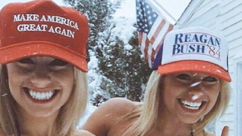 Illustration for article titled A Pro-Trump Twitter Account Wants to Make America Great Again 'One Babe at a Time'