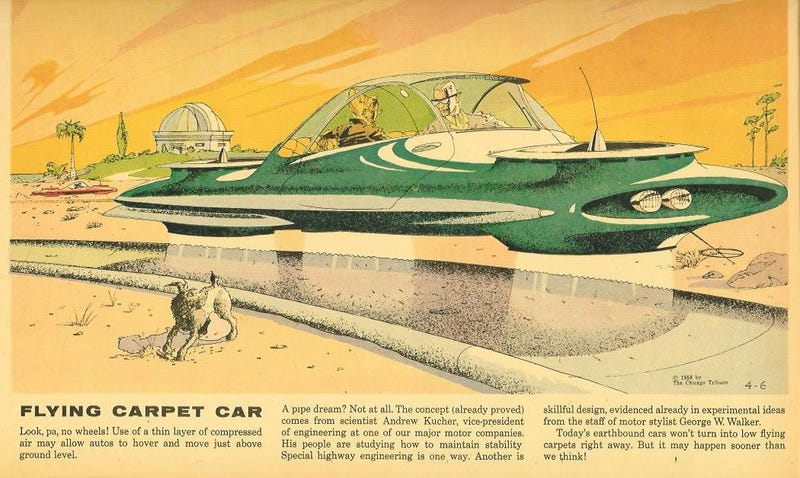 Illustration for article titled In the 1950s, Ford Motor's vice-president pushed for a flying car