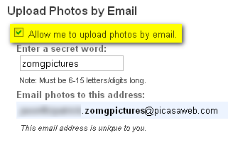 Illustration for article titled Add Pictures to Picasa Web Albums via Email
