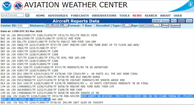 Report: 'Pretty Much Every One Threw Up' on a Flight Through the Nor'easter