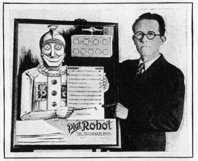 Illustration for article titled This Depression-Era Hollywood Robot Was Built to Write Screenplays