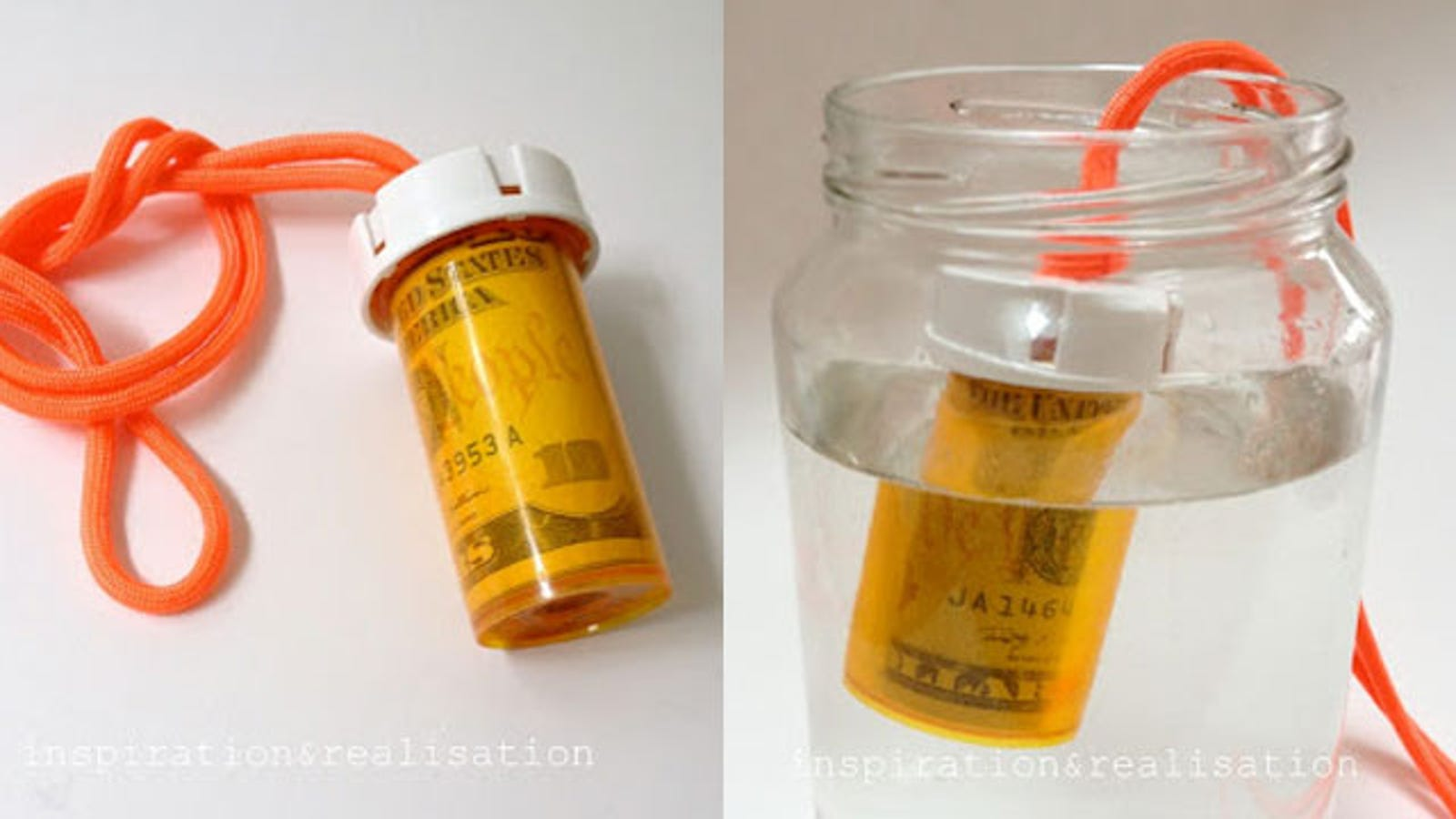 Turn A Pill Bottle Into A Waterproof Money Container For
