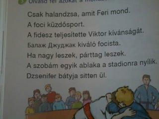 Illustration for article titled Megtaláltuk a fideszes rendszer legvicesebb iskolai olvasókönyvét