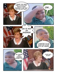 Illustration for article titled Conceptual Confrontations: Judge Judy Vs. Latarian Milton