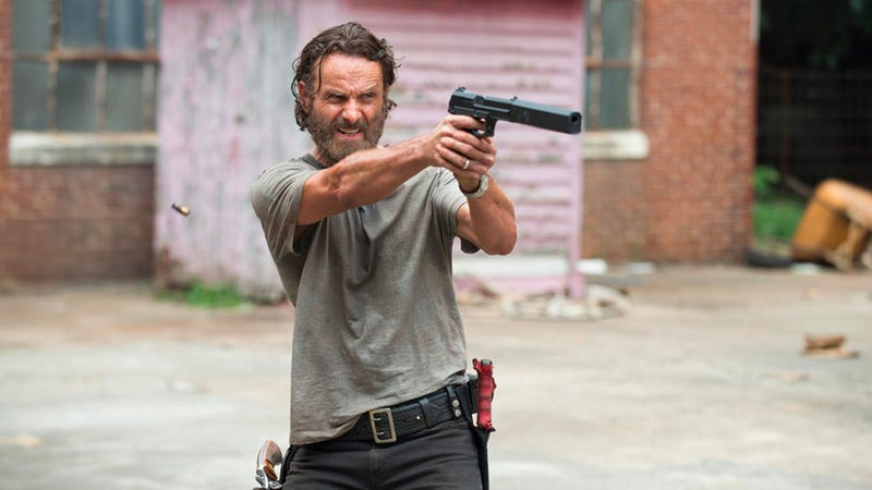 Rick isn't the only one taking aim on The Walking Dead. Image: AMC