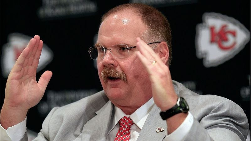 Illustration for article titled BREAKING: Andy Reid Trades First Overall Pick For Bite Of Bacon Double Cheeseburger