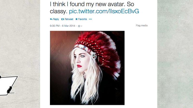 Illustration for article titled Oklahoma Governor's Daughter Dons a Headdress, People Are Not Amused