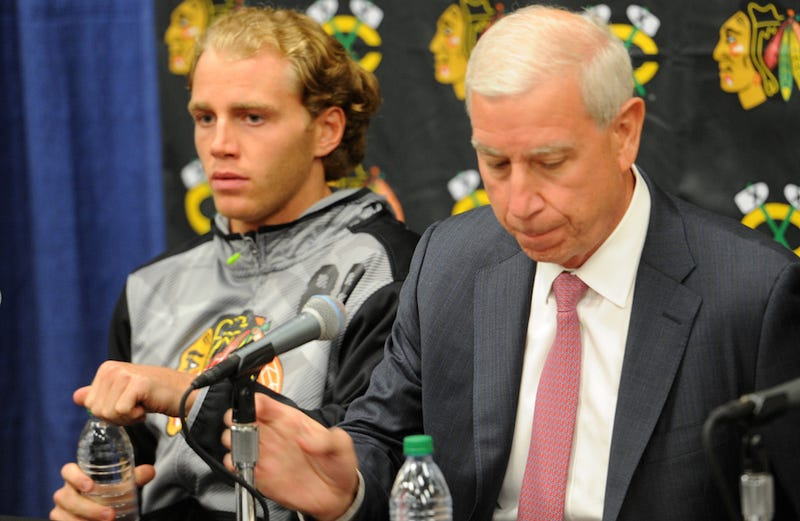 Illustration for article titled Patrick Kane Holds Disastrous Q&A At Blackhawks Training Camp