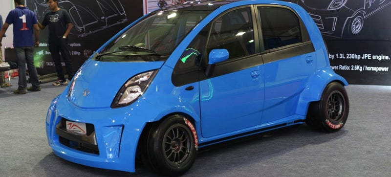 Illustration for article titled The 230 HP Tata 'Super Nano' Is The Craziest Indian Car Ever
