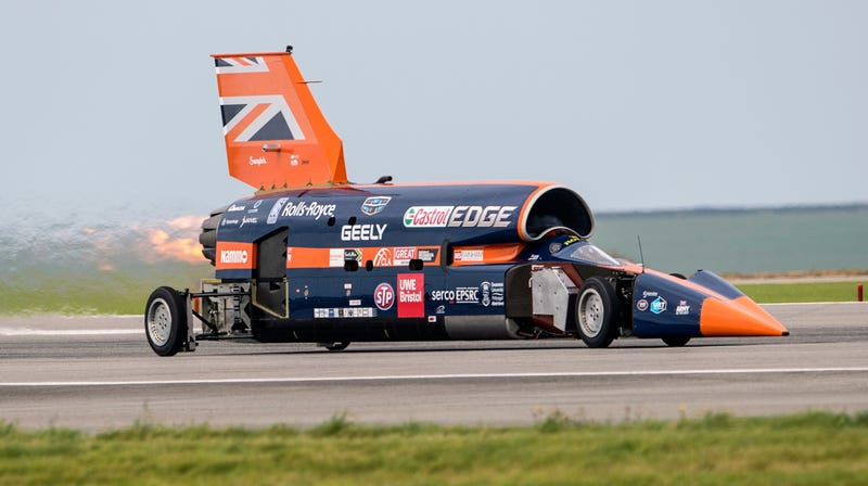 Illustration for article titled The 1,000-MPH (?) Bloodhound Supersonic Car Can Be Yours for the Price of a New McLaren